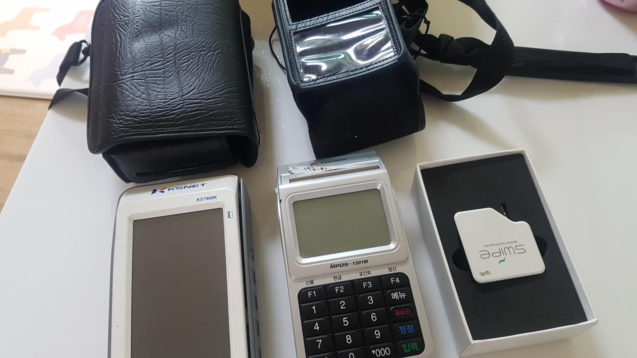 휴대용 카드단말기 2개+핸드폰용 1개
