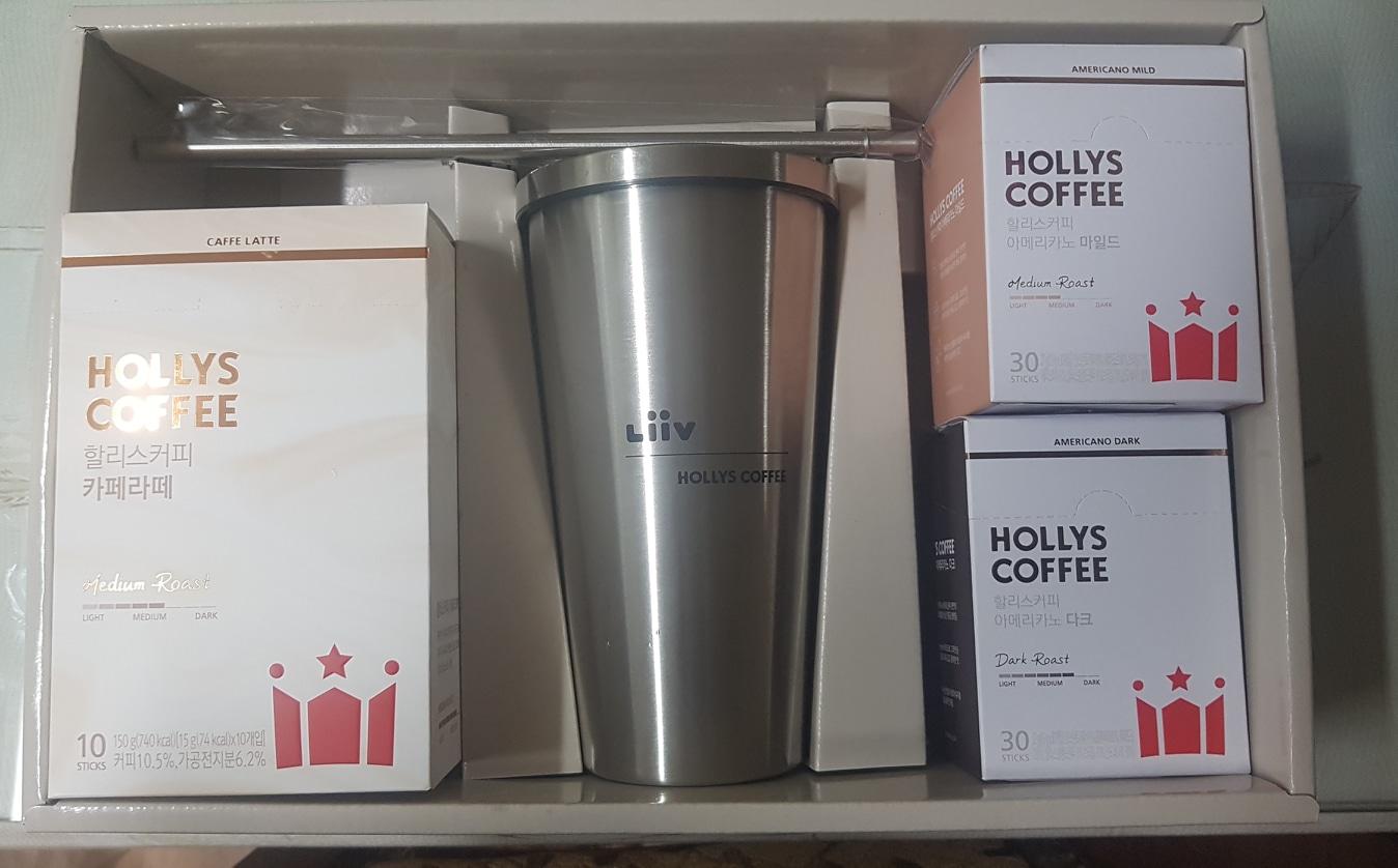 할리스커피 텀플러와 커피