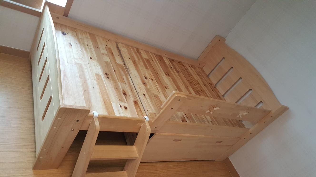 어린이 편백나무 침대 싱글