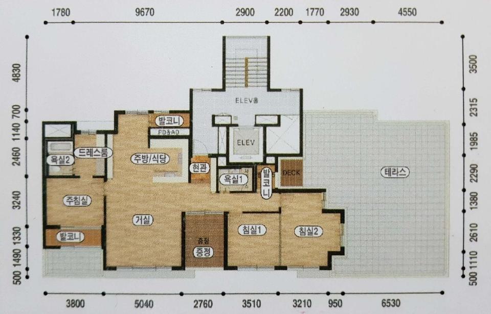남구 노대동 34평 맨앞동 팬트하우스  테라스 25평 별도 공간 있어요. 전세 2억 9천만원