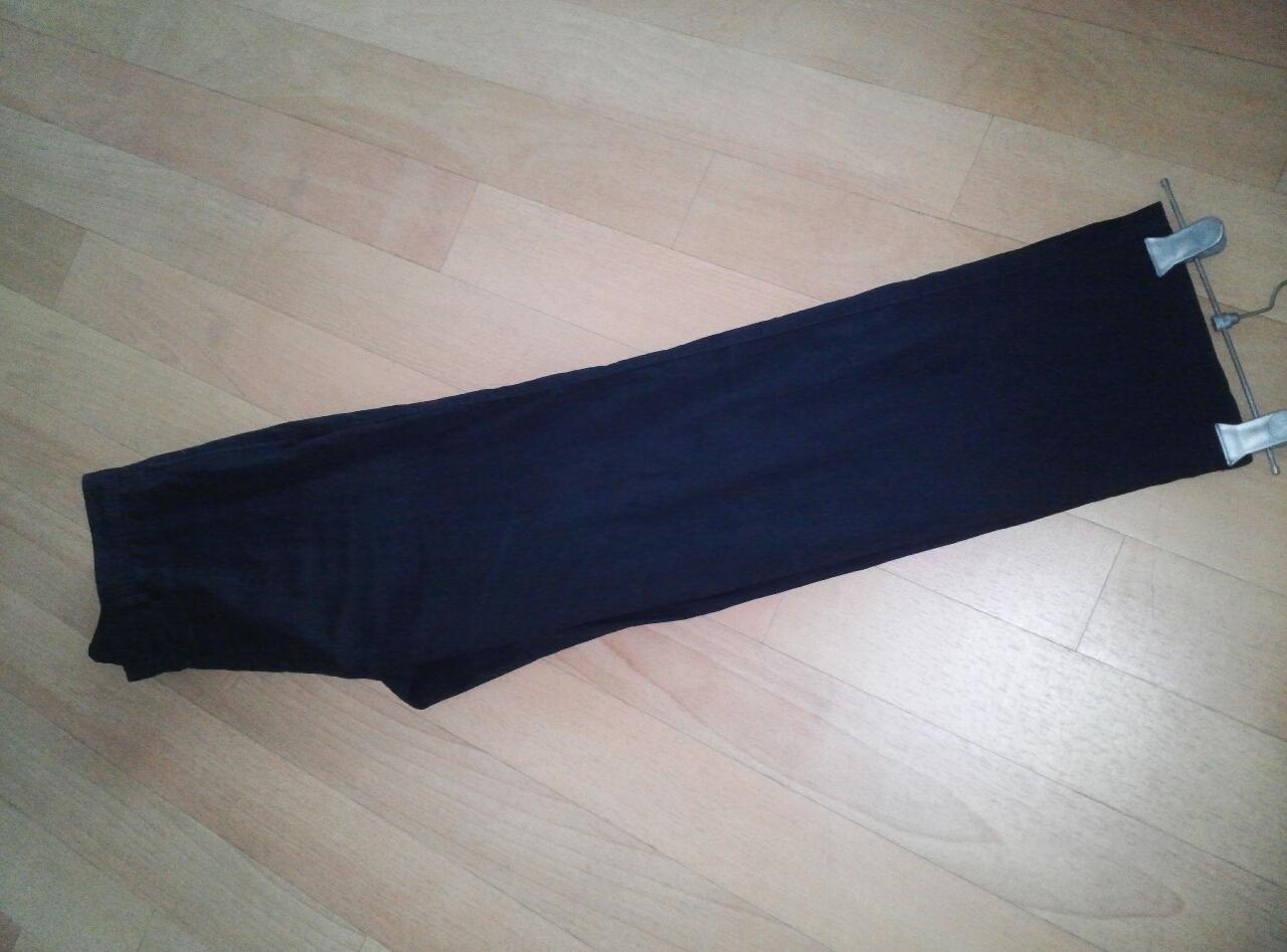 남성.블랙 얇은 골지 면 바지(허리34)세탁완료. 우수함