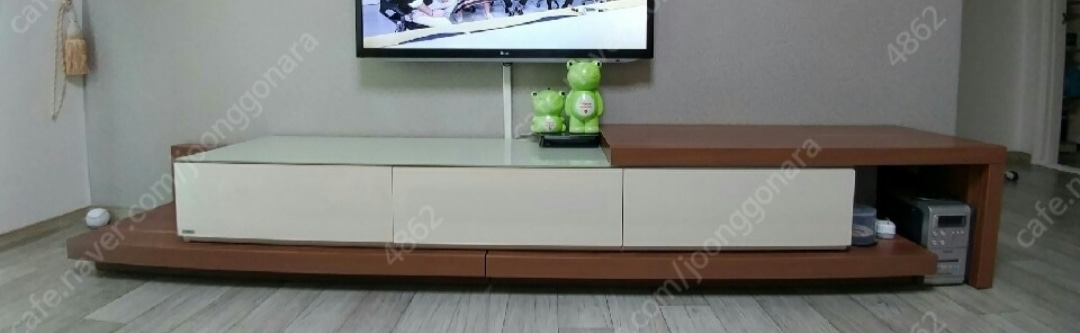 리바트 거실장/침대+매트리스/