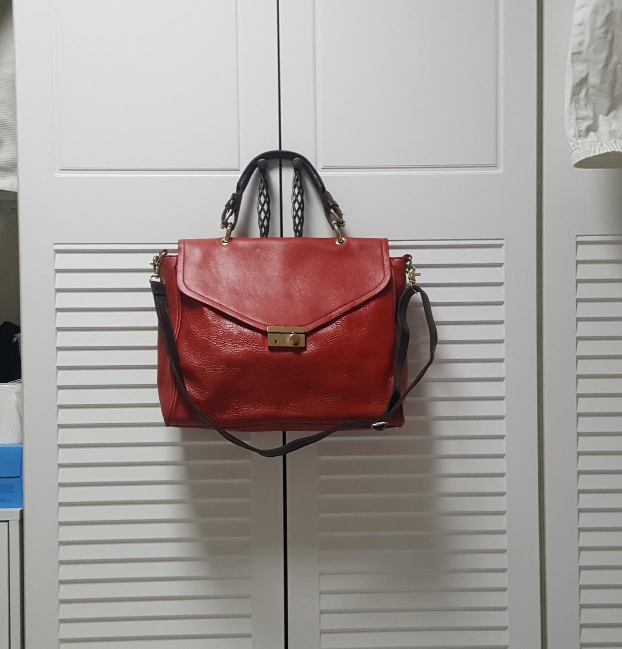 ❣거의새상품❣양가죽가방,숄더백,여자가방,스퀘어백,레드가방