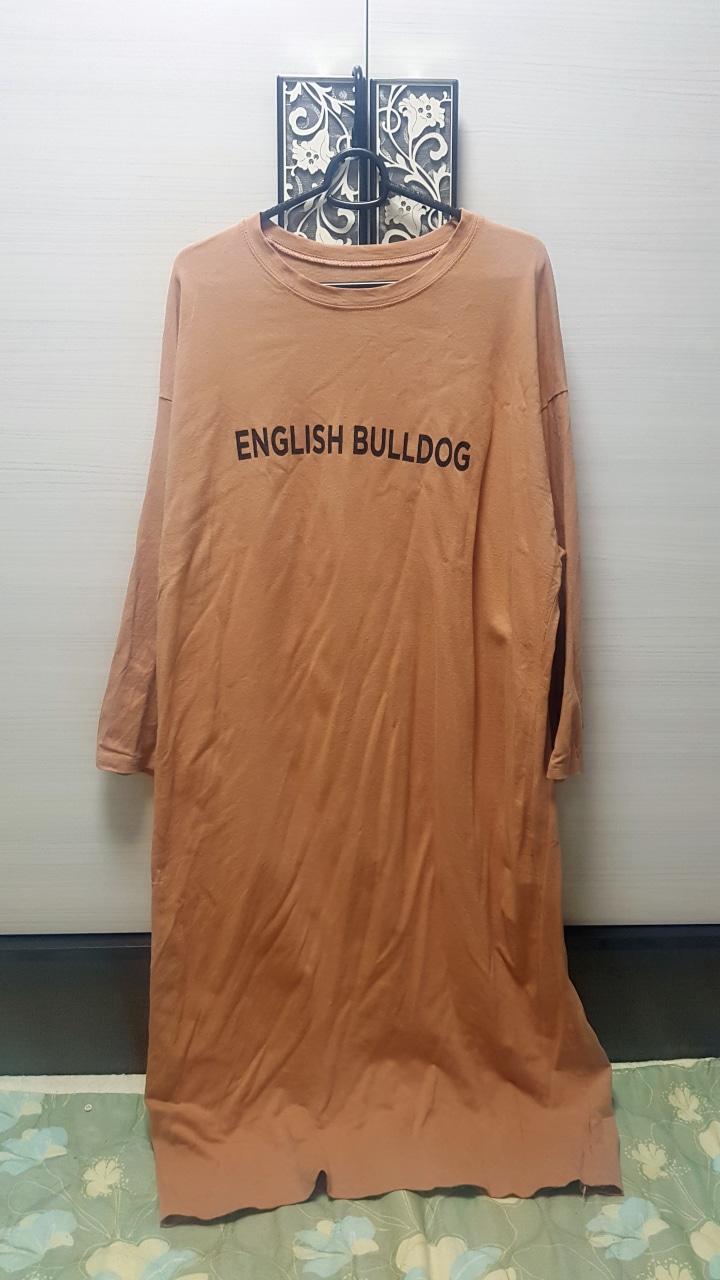잉글리시 불독 롱티셔츠 원피스