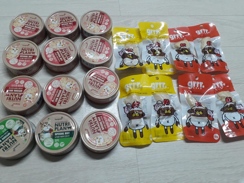 고양이용 캔12개 닭가슴살8개