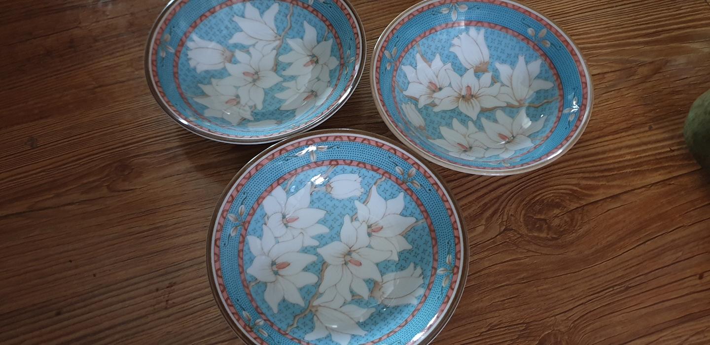 파란꽃접시