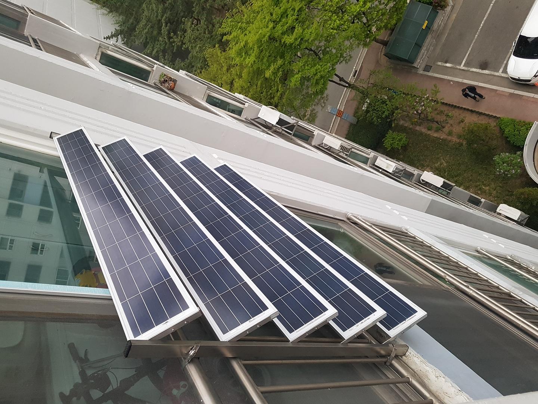아파트 베란다 태양광발전기 240와트 태양열발전기 쏠라셀발전기 240w