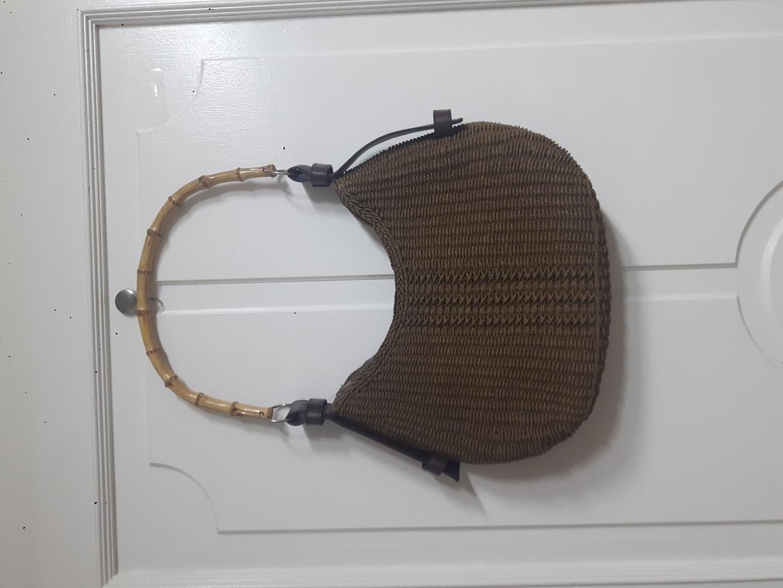 라탄 우드링 가방