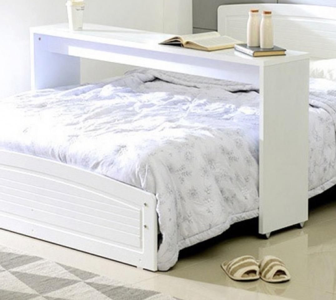 원목베드테이블/침대테이블(퀸침대 사이즈)
